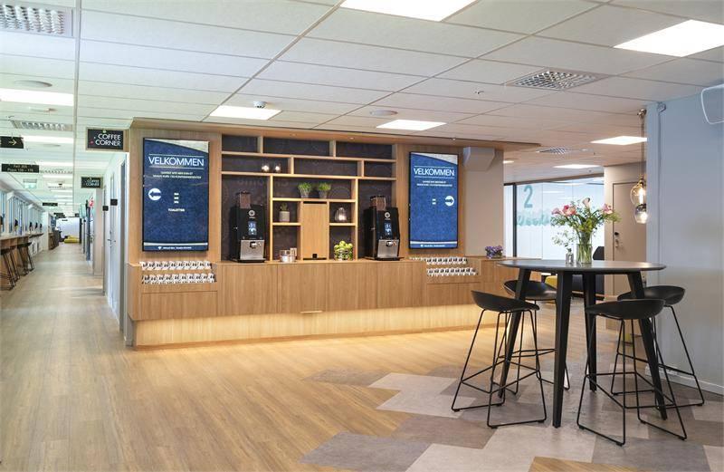 Pauserområde med kaffebar